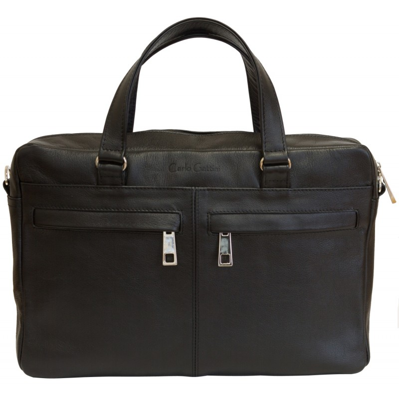 Кожаная мужская сумка Romeno black (арт. 5003-01)