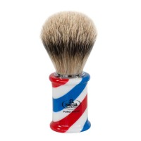 Omega 6735 - Помазок для бритья, Ворс серебристого барсука