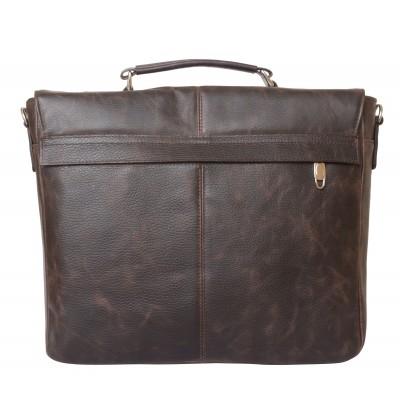 Кожаный портфель Fontevivo brown (арт. 2005-04)