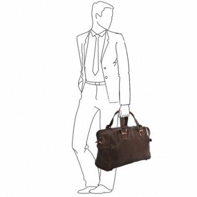 Дорожная сумка Ashwood Leather  Dylan  Brown/Cognac