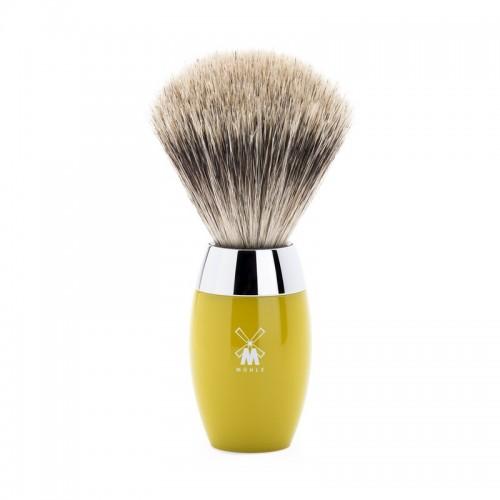 Muehle Kosmo - Помазок, барсучий ворс категории Fine, смола лимонного цвета