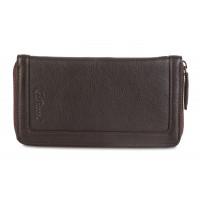 Мужской клатч Ashwood Leather Travel Wallet Dark Brown