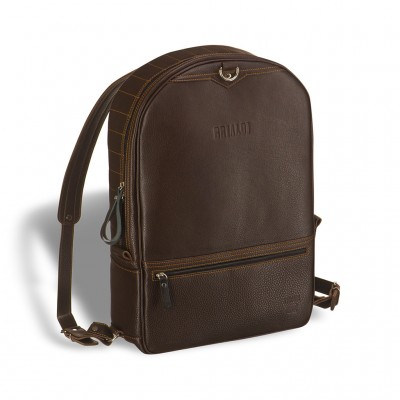 Кожаный рюкзак-трансформер BRIALDI Joker (Джокер) brown