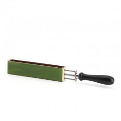 Muehle- Двусторонний ремень с ручкой для правки опасной бритвы, кожа + текстиль