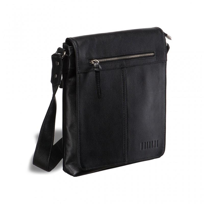 Кожаная сумка через плечо BRIALDI Livorno (Ливорно) relief black
