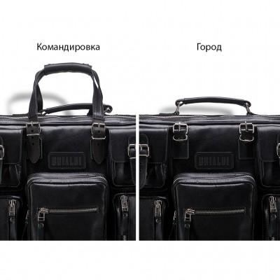 Деловая сумка для командировок BRIALDI Norfolk (Норфолк) black