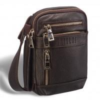 Кожаная сумка через плечо BRIALDI West (Вест) relief brown
