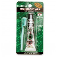 Clubman Moustache Wax Chestnut - Воск для укладки и подкрашивания усов и бороды с щеточкой (каштановый) 15 мл