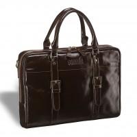 Деловая сумка для документов BRIALDI Darwin (Дарвин) shiny brown