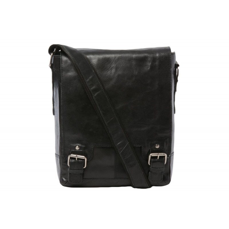 Кожаная сумка через плечо Ashwood Leather 8342 Black