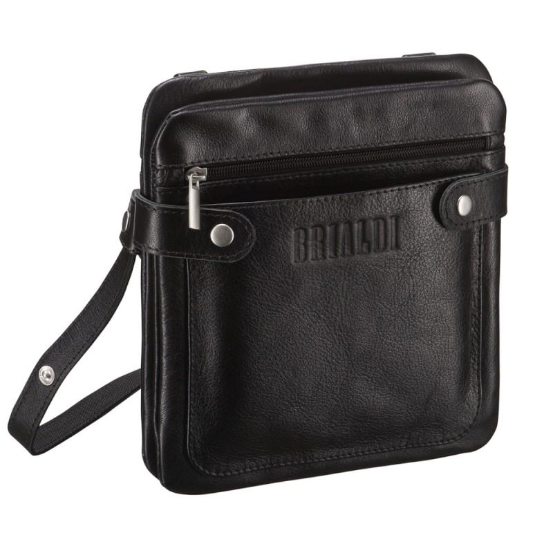 Кожаная сумка через плечо BRIALDI Newport (Ньюпорт) black