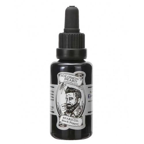 Solomon`s Beard Black Pepper - Масло для бороды Черный перец 30 мл