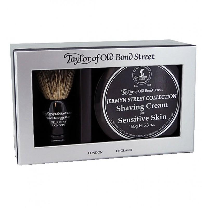 Taylor Of old Bond Street Jermyn Street Collection Cream & Bager Gift Box - Подарочный набор для бритья