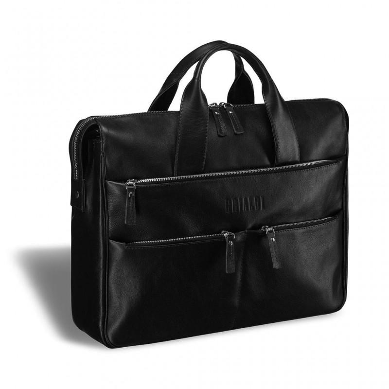 Вместительная деловая сумка BRIALDI Manchester (Манчестер) black
