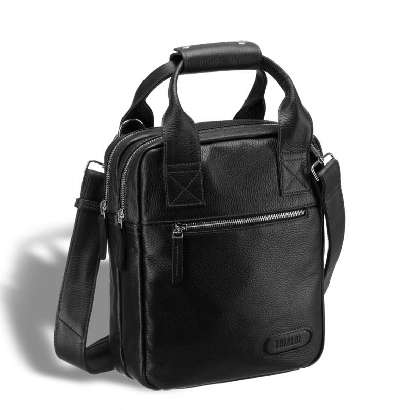 Кожаная сумка через плечо BRIALDI Valbona (Вальбона) relief black