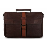 Кожаный портфель Ashwood Leather Doris Brown Cognac