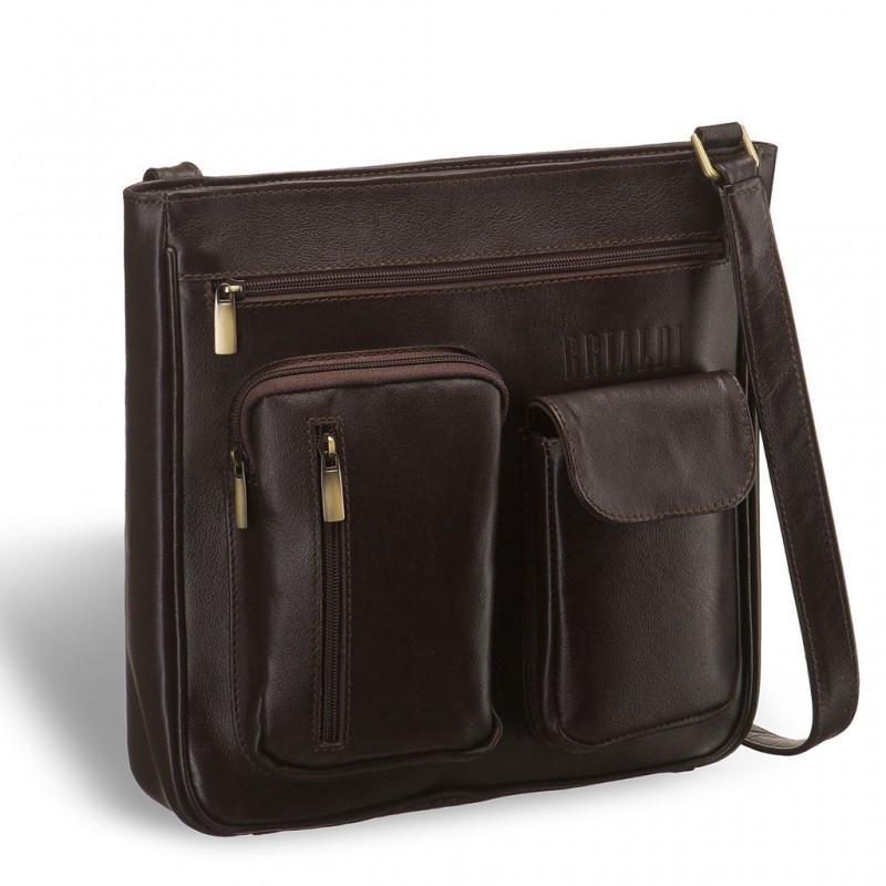 Кожаная сумка через плечо BRIALDI Chester (Честер) brown