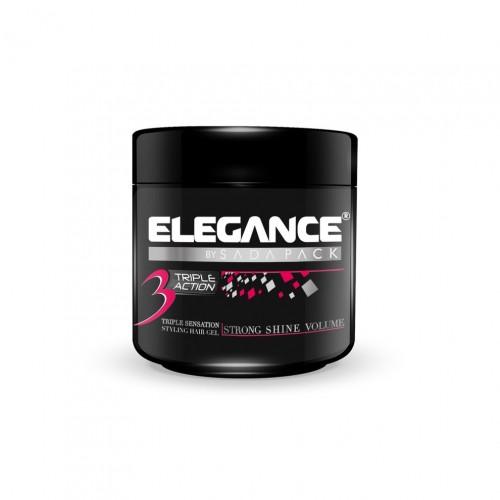 Elegance Triple Action Gel Pink - Гель для укладки тройного действия 250 мл