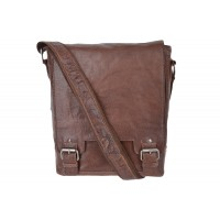 Кожаная сумка через плечо Ashwood Leather 8342 Tan