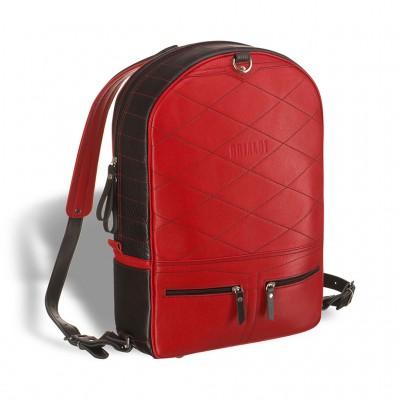 Кожаный рюкзак-трансформер BRIALDI Joker (Джокер) black and red