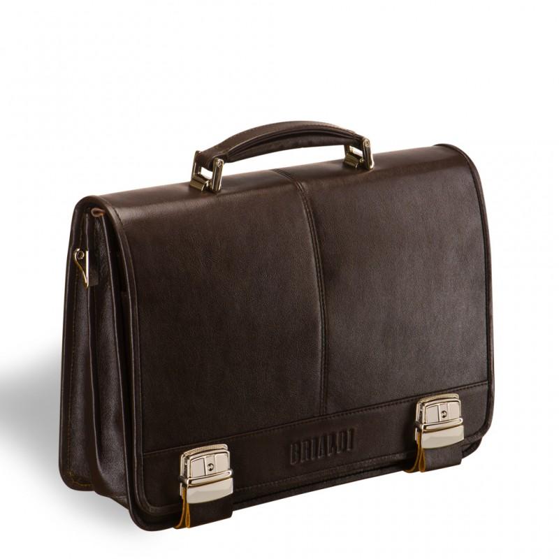 Мужской портфель BRIALDI Siracusa (Сиракузы) brown
