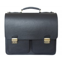 Кожаный портфель Fraccano black (арт. 2003-01)