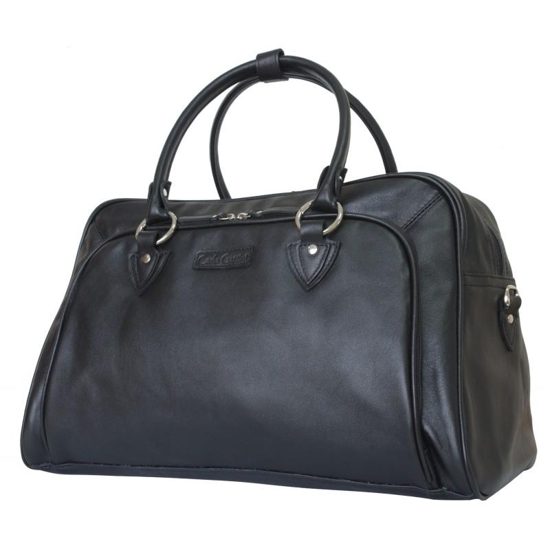 Кожаная дорожная сумка Vettore black (арт. 4005-01)