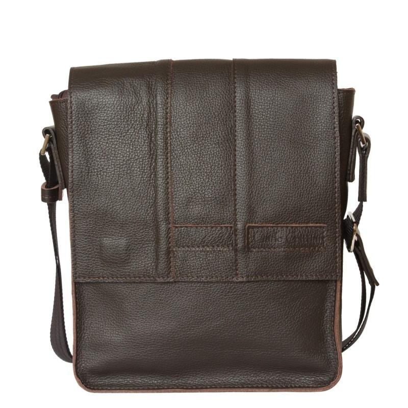 Кожаная мужская сумка через плечо Varese brown (арт. 5001-04)