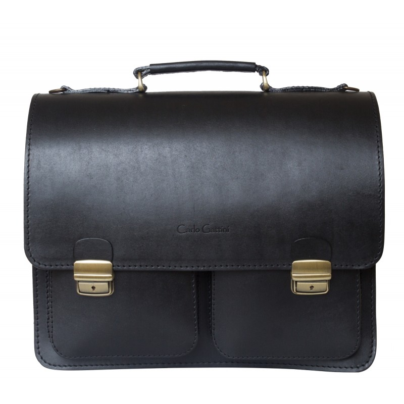 Кожаный портфель Fraccano black (арт. 2003-30)