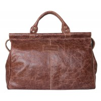 Кожаный саквояж Veano brown (арт. 4004-02)
