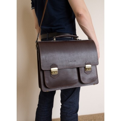 Кожаный портфель Fagetto black (арт. 2004-30)