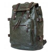 Кожаный рюкзак Volturno green/brown (арт. 3004-11)