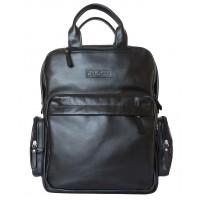 Кожаная сумка-рюкзак Reno black (арт. 3001-01)