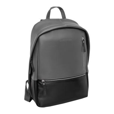 Кожаный рюкзак мужской Adams Black Grey