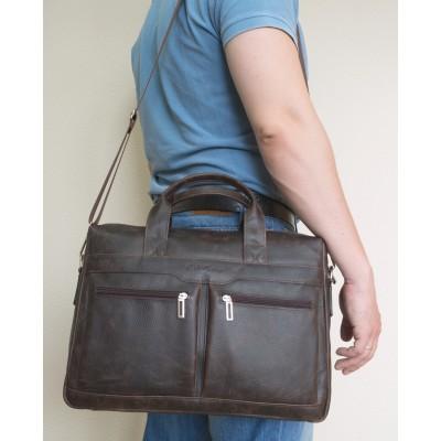 Мужская сумка Lugano brown (арт. 1007-04)