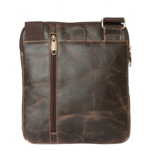 Кожаная мужская сумка через плечо Casella brown (арт. 5020-02)