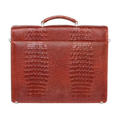 Мужской портфель из натуральной кожи Richeson Redwood Caiman
