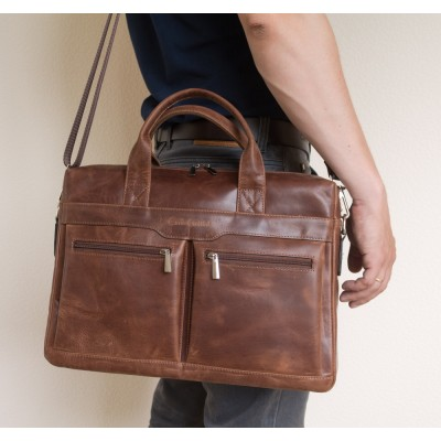 Мужская сумка Lugano brown (арт. 1007-16)