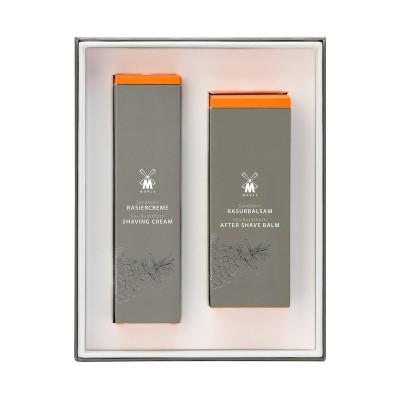 Muehle - Подарочный набор для бритья, крем и бальзам после бритья, Облепиха