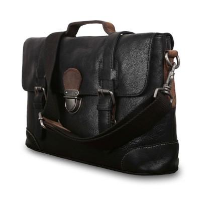 Мужской портфель из натуральной кожи Ashwood Leather  4553 Black