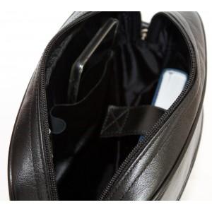 Кожаная мужская сумка через плечо Varano black (арт. 5013-01)