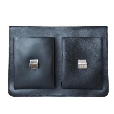 Мужской портфель из натуральной кожи Carlo Gattini Montorio black (арт. 2022-30)