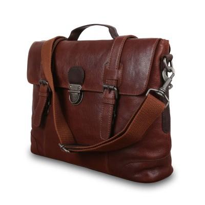 Кожаный портфель для документов Ashwood Leather  4554 Tan