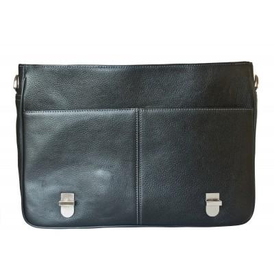 Кожаный портфель мужской Carlo Gattini Saletto black (арт. 2020-01)