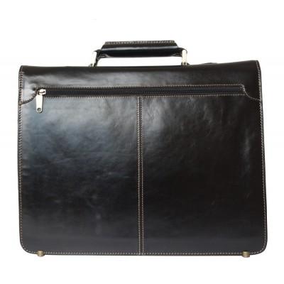Кожаный портфель Brusado black (арт. 2011-01)