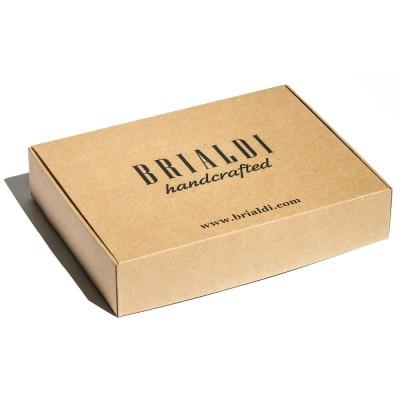 Удобная деловая сумка для документов BRIALDI Pasteur (Пастер) relief brown