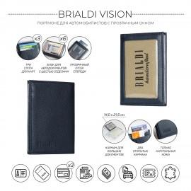 Портмоне для автодокументов SLIM-формата BRIALDI Vision (Взгляд) relief navy