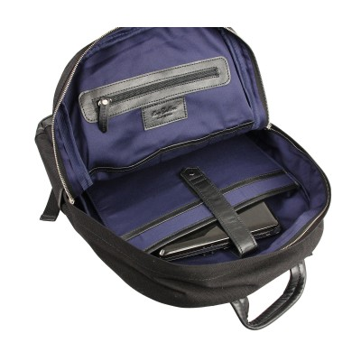 Мужской рюкзак из натуральной кожи Rugby Black