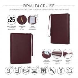 Органайзер для документов А5 с жесткой формой BRIALDI Cruise (Круиз) relief cherry