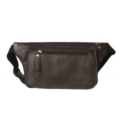 Кожаная поясная сумка Curone brown (арт. 7001-04)